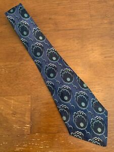 Vtg-1920s-20s-resilient-Brocade-Silk-Abstract-Peacock-Theme-Swing-Tie-48-3-5