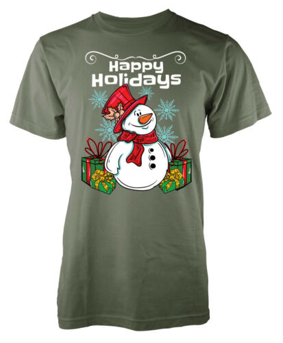 Xmas Happy Holidays Christmas Adult T Shirt