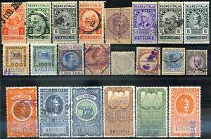 Regno-d-039-Italia-1925-1945-Marche-da-Bollo-58-pezzi-usati-m1621