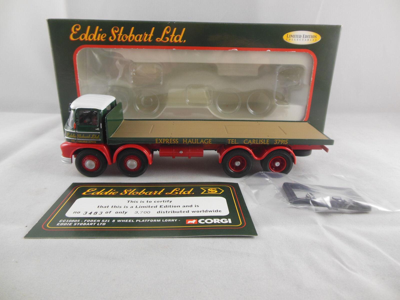 Corgi Classics CC10805 Foden S21 8 Wheel Platform Lorry Eddie Stobart Ltd 1 50