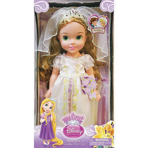My First Disney Princess Rapunzel Wedding Dress Up 15 Toddler Doll