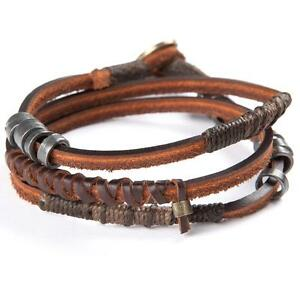 New With Tag! !Wakami's Fire Leather Bracelet Made in Guatemala!! WA0394