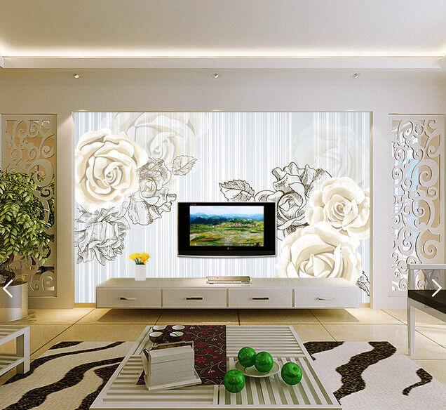 3D Gemalte Blumen 6113 Tapete Tapeten Mauer Foto Familie Tapete Wandgemälde DE