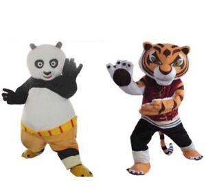 Kung Fu Panda Po Tigress Mascot Costume Suits Birthday Party Dress Adults Size