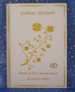 Festzeitung Goldene Hochzeit Goldhochzeit 50 Hochzeitstag Geschenk Goldblume Ebay