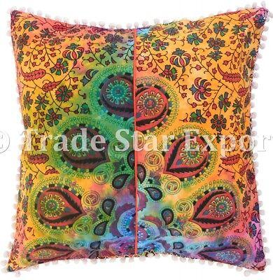 Indian Tie Dye Mandala Cushion Cover Set Boho Cotton Throw Square Pillow Cases   eBay