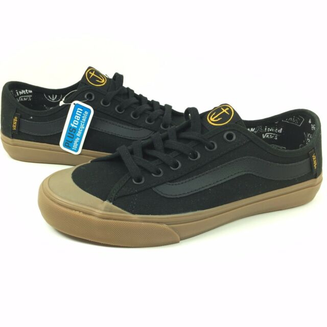 68326308103e9b New Vans Black Ball SF Size 6.5 Men Captain Fin Black Gum Canvas Skate Surf
