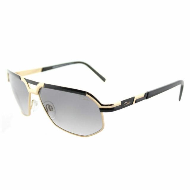 f9de432d492 New Authentic Cazal 9056 001SG Black Gold Vintage Sunglasses Grey Gradient  Lens