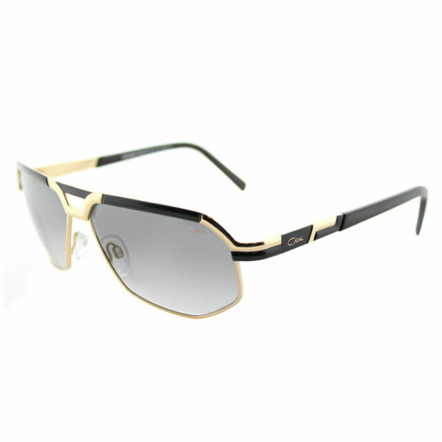 04814b0650 New Authentic Cazal 9056 001SG Black Gold Vintage Sunglasses Grey Gradient  Lens