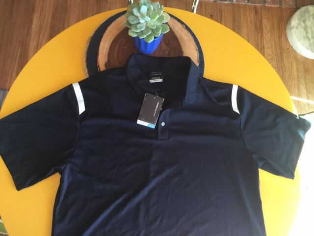 $79 NWT - NIKE GOLF POLO Black Short Sleeve DRI FIT SHIRT Men's Large