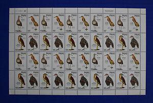 Palau (#187-190) 1988 Ground Dwelling Birds MNH sheet