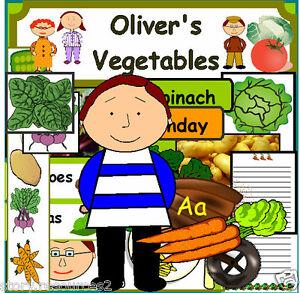 olivers oliver 39 s vegetables story resources teaching resource sack ks1 eyfs ebay. Black Bedroom Furniture Sets. Home Design Ideas