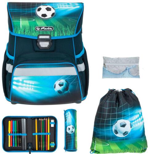 Ranzen für Jungen Schulranzen Schultasche Herlitz Loop Plus 5T Set Soccer r