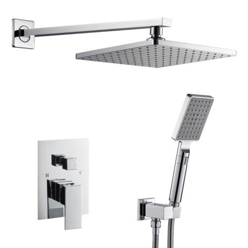 "OUGOO 9/"" Bathroom Rainfall Shower System Wall Mount Square Shower Set Chrome"