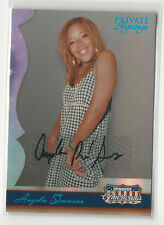 Angela Simmons 2007 Donruss Americana Private Signings Autograph Card Auto /159