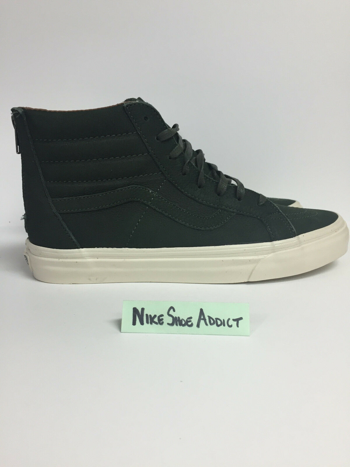 Vans SK8-HI Reissue Zipper Premium Leather DARK DARK DARK GREEN VN0A349AM35 Vault f2089d