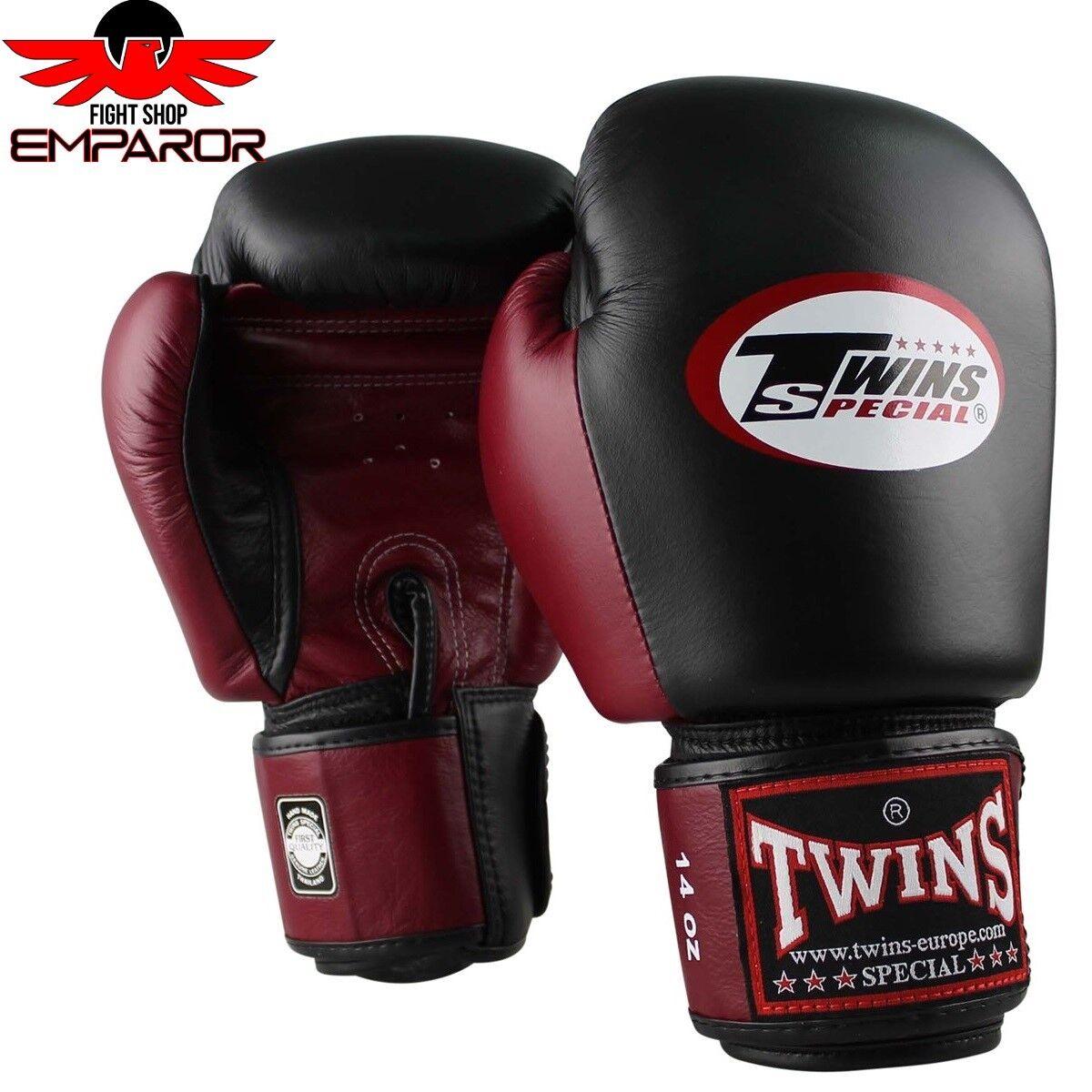 Twins 10-16oz Special Boxhandschuhe BGVL 3 Weinrot/Schwarz Thai Boxen Handschuhe 10-16oz Twins d8ee4f