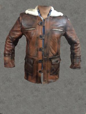 Dark Knight Rises Tom Hardy Lambskin Genuine Leather Trench Coat