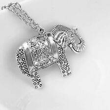 Hot Fashion Elegant Retro Elephant Sweater Pendant Necklace