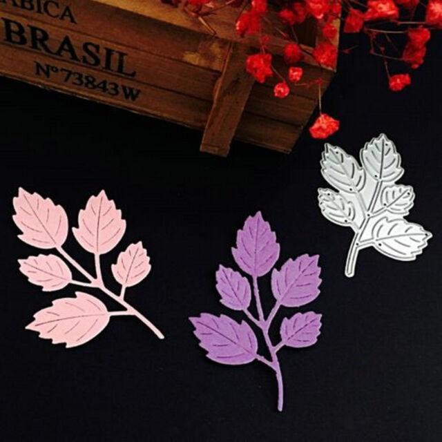 DIY Die-Cut Leaves Cutting Dies Stencil Scrapbook Embossing Paper Cards Craft