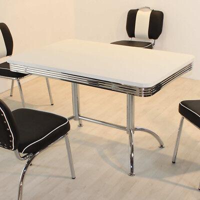 Esstisch Elvis Tisch Dinertisch Retro American Diner Edelstahl und weiß 50er Jah | eBay