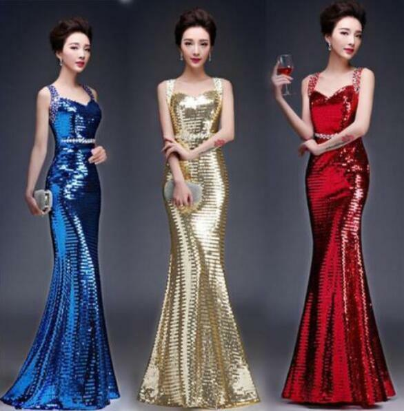 NEW lace Sequins Strapless Mermaid Formal Evening Prom Party Dress Ball Gown