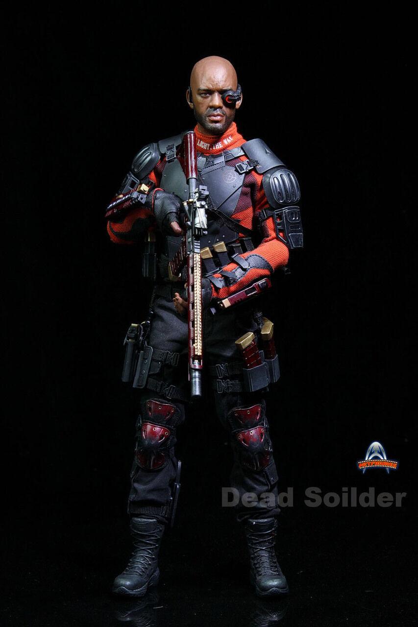 Figuras de arte escala 1 6 AF-021 muertos Soilder suicidio escuadrón Deadshot Figura De Acción