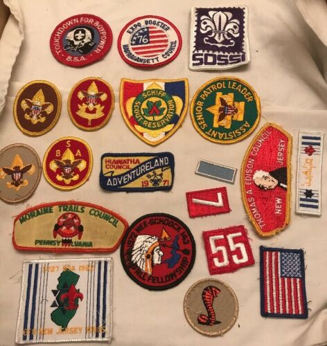 Vintage Boy Scout BSA Patch Mixed Lot Of 20 Patches Patch Council Camps
