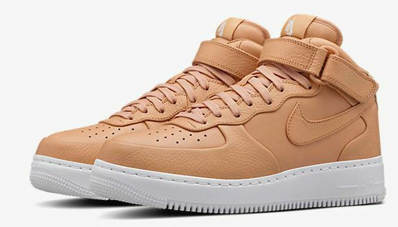 NIKELAB LEATHER AIR FORCE 1 MID SP VACHETTA TAN 819677-2018 AUTHENTIC Comfortable and good-looking