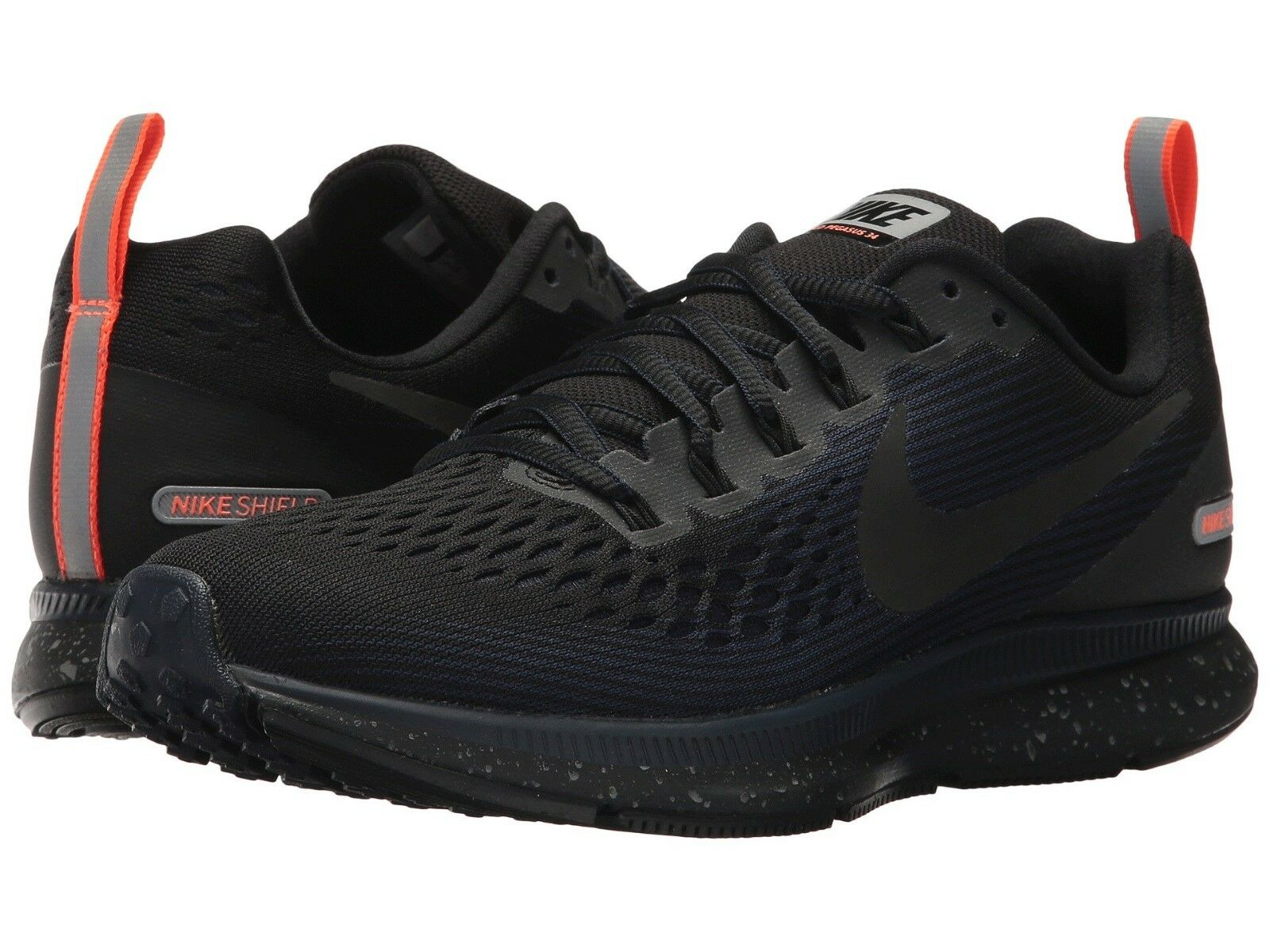 Nike Air Zoom Pegasus 34 34 34 Shield Wmn`s Sizes 7-11 B Black Obsidian 907328-001 NEW 948e2f