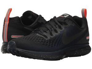 Nike Air Zoom Pegasus 34 Shield Wmn`s Sizes 8-11 B Black/Obsidian 907328-001 NEW