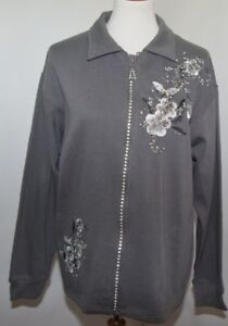 Gris Ruffles L Brodés Veste Usa Womens Cristaux Made Chandail Angelica By De qqZEg6