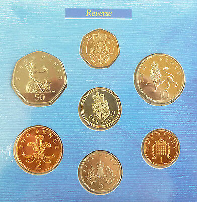 1988 UK Uncirculated coin Year Set BU 7-coin Royal Mint pack