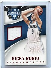 2014-15 TOTALLY CERTIFIED #64 RICKY RUBIO JERSEY CARD #96/149, TIMBERWOLVES