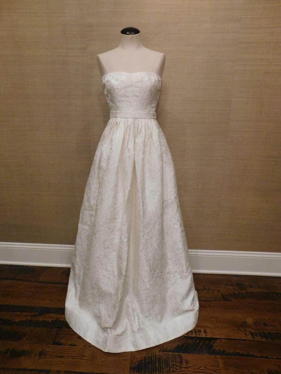 J. Crew  Ella Jacquard Vestido Sin Tirantes 16  1395 F3783 marfil de boda novia formal  barato