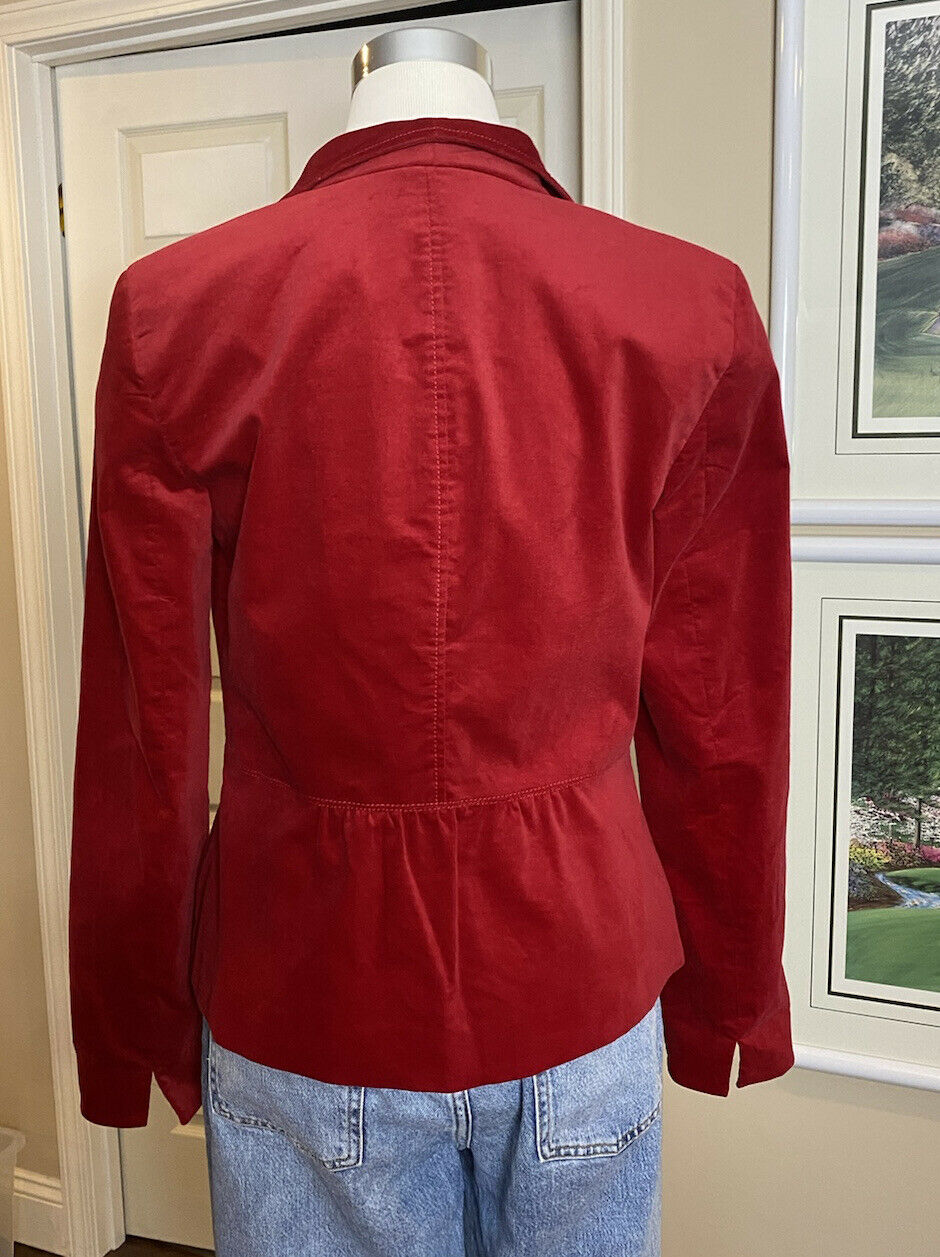 Talbots Red Velvet Blazer 4 - image 2