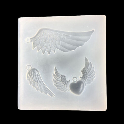 DIY Angel Wings transparent Epoxy Pendant mold Silicone Fondant Sugar Mold S*