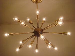 SPUTNIK-STARBURST-LIGHT-FIXTURE-CHANDELIER-LAMP-SATIN-BRUSHED-BRASS-24-034-18-ARMS