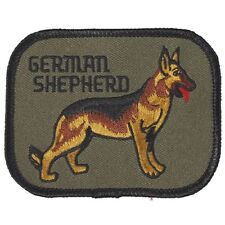 (04663) Aufnäher Applikation Stick-Emblem Patch 10 x 8 cm ☆ GERMAN SHEPHERD ☆