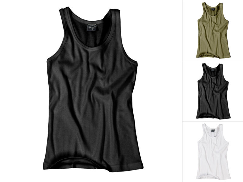 Mil-tec Canotta A Costine Cotone Sport Camicia Sotto Camicia Jersey-tank-top S-xxl-p S-xxl