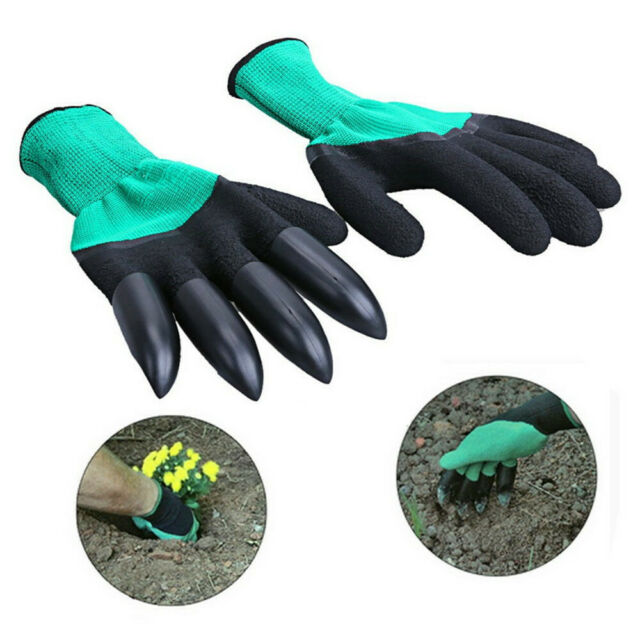 NEW Garden Genie Gloves With Fingertips Claws Quick Easy to Dig and Plant Safe