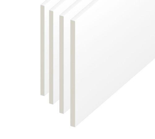 Utility 100mm Soffit Reveal Skirting PVC Plastic Flat Board 1.5m White