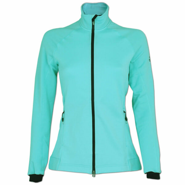 adidas Damen Fleecejacke Jacke Outdoor Sportjacke High Loft Fleece Clear Aqua
