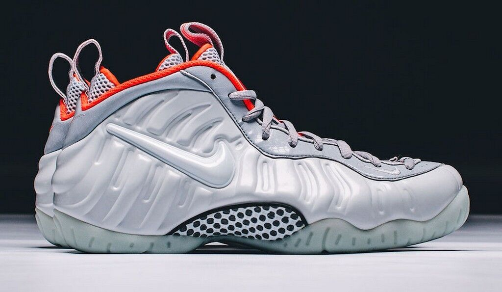 Nike Air Foamposite Pro PRM Pure Platinum Wolf Grey Bright Crimson 616750-003