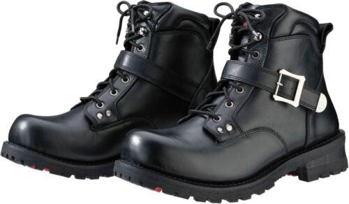 Black Z1R Men/'s TREKKER Low Leather Motorcycle Riding Boots Choose Size