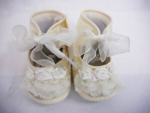 Scarpe Romano Born Wedding Baby mesi Ivory New 18 Baptism Occasion OPqwd68