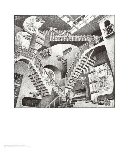 MC Escher Relatività poster stampa d/'arte immagine 65x55cm