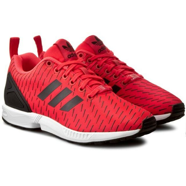 Adidas Zx Flux [Size 40 43 1/3 46] Trainers S75528 Red Black New Original  Box