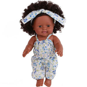 Black-Girl-Dolls-African-American-Baby-Toys-12-inch-Infant-Play-Cute-Kid-Gift-CO