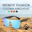 Infinity-Fashion-Colored-Sunglasses-Mirror-UV400-Polarized-Vintage-Square-Glasse miniature 2